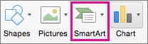 Organizācijas diagrammas SmartArt
