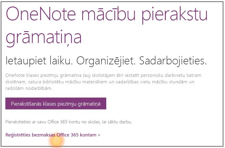 Ekrānuzņēmums par to, kā iegūt bezmaksas Office365 kontu.
