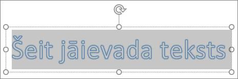 WordArt viettura teksts