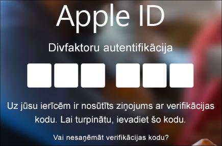 Ievadiet savu divfaktoru autentifikācijas kodu