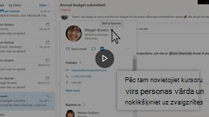 Kontaktpersonu video pievienošanas sīktēla attēls