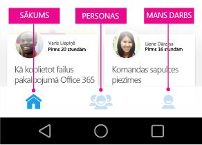 Delve darbam ar Android galvenā izvēlne
