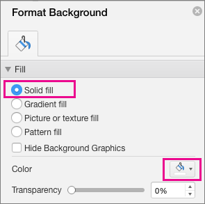 PowerPoint for Mac Solid Fill