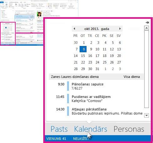 Kalendāra ieskats