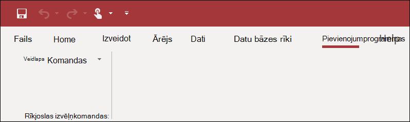 Programmas Access lentes pievienojumprogrammu ekrānuzņēmums