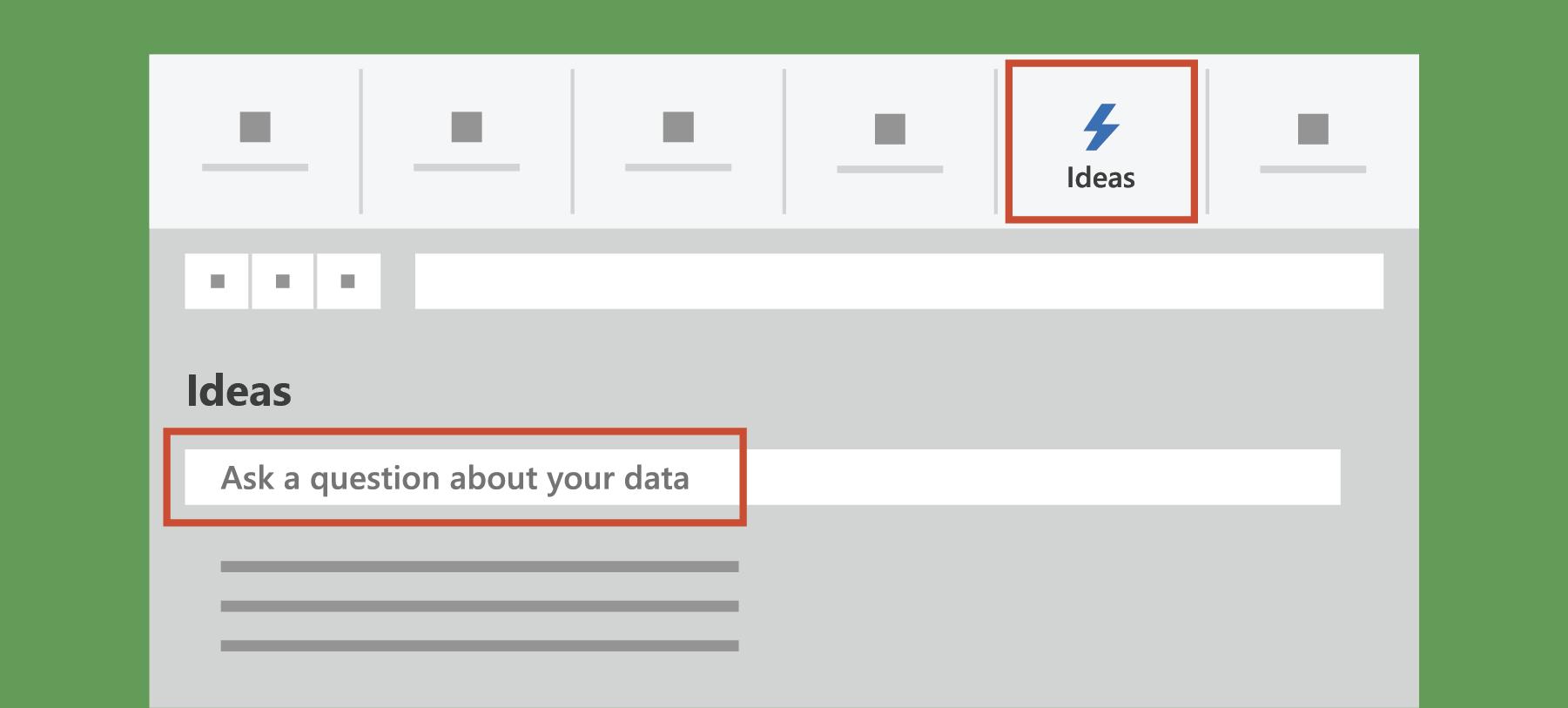 Rāda idejas programmā Excel