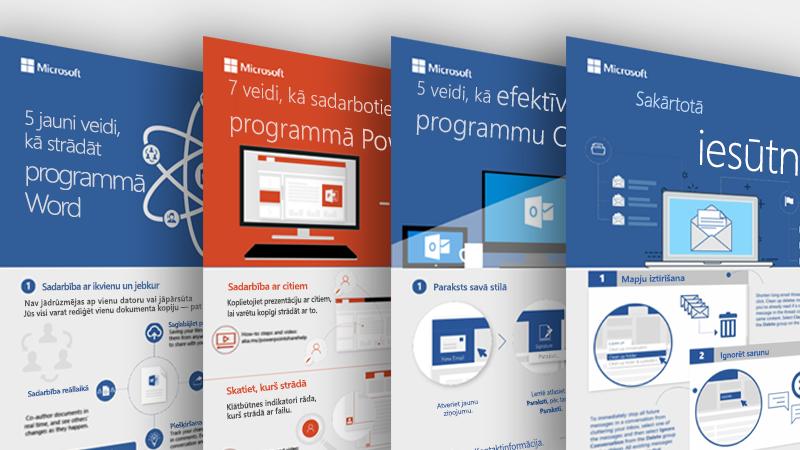 Outlook, Word un PowerPoint infografika