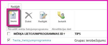 SharePoint Online administrēšanas centra lapas ekrānuzņēmums drošas krātuves mērķa lietojumprogrammas konfigurēšanai.