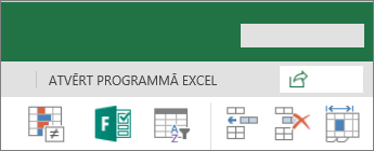 Poga Rediģēt programmā Excel