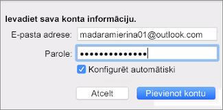 E-pasta konta pievienošana