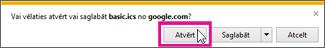 Google kalendārs— atvērt kalendāru no pārlūkprogrammas Internet Explorer
