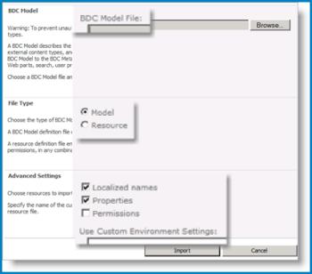 Ekrānuzņēmums ar BCS modeļa skatu.