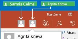 PowerPoint darbam ar Android sadarbība reāllaikā