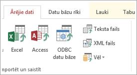 Access cilne Ārējie dati