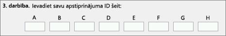 Rāda, kur ievadīt apstiprinājuma ID, ko produktu aktivizācijas centrs nodrošina pa tālruni