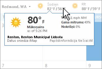 Laikapstākļu josla