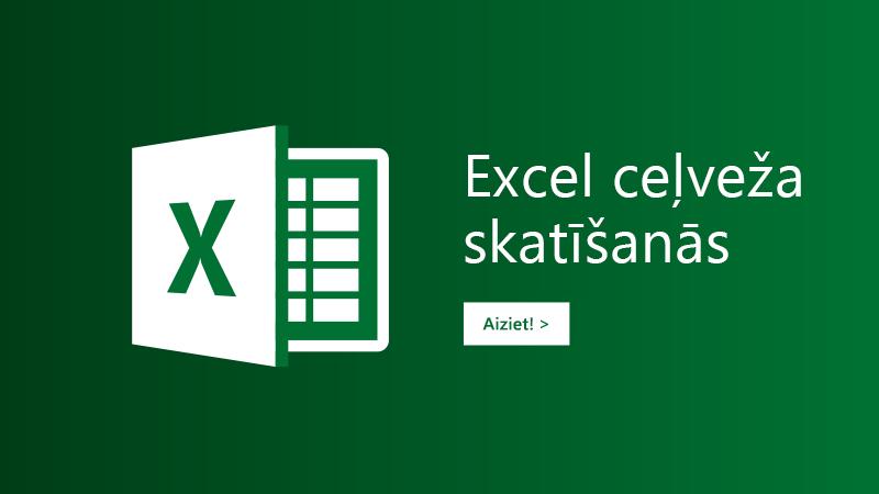 Ceļveža veidne programmai Excel