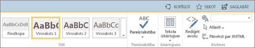 Ekrānuzņēmums ar SharePoint Online lenti, kurā redzamas vadīklas Koplietot, Sekot un Saglabāt.