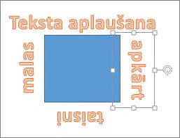 WordArt pievienošana ap formu ar taisnām malām