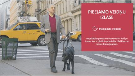 Vājredzīgs vīrietis dosies kopā ar redzes suni