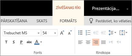 Teksta formatēšana