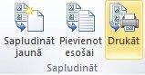 Katalogu sapludināšana printerī