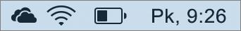 OneDrive ikona Mac sistēmas teknē