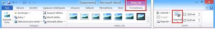 리본 메뉴의 그림 도구 아래 서식 탭에 있는 자르기 명령