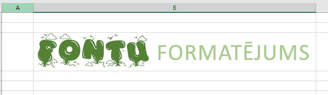 Bagātināta teksta fonta izmantošana vairāku veidu teksta formatējumam