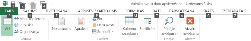 Power Query lentes taustiņpadomi