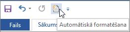 Automātiskās formatēšanas ikona