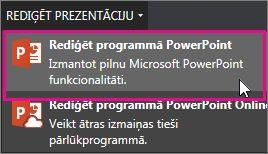 Rediģēšana datora programmā PowerPoint