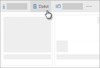 Ekrānuzņēmums, kurā dzēst failus pakalpojumā OneDrive