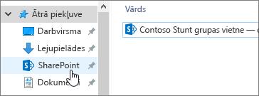 Sinhronizētā SharePoint mape datorā ar atlasītu SharePoint