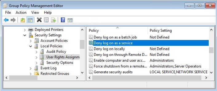 UIFlowService pārbaude atteikt pieteikšanos kā pakalpojumu grupu