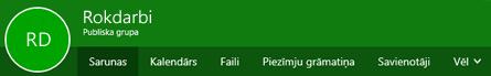 Grupas lente programmā Outlook tīmeklī