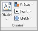 Noklikšķiniet uz lappuses izkārtojums > dizaini