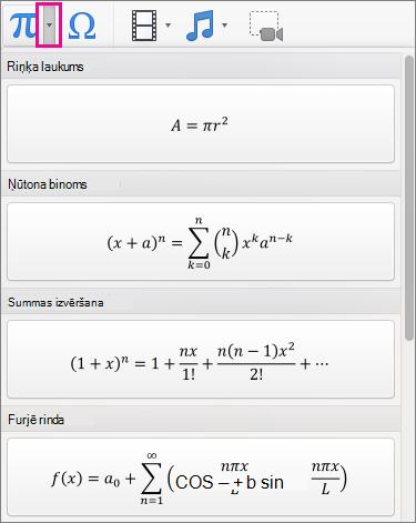 Iebūvētu vienādojumu