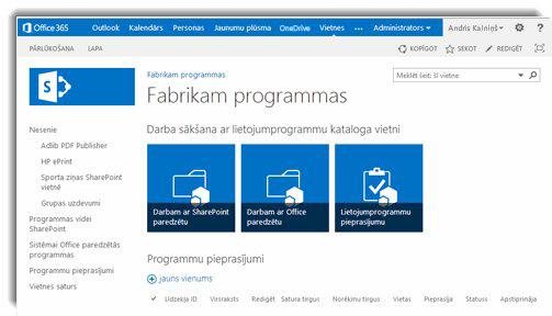 Programmu kataloga vietnes sākumlapas ekrānuzņēmums.