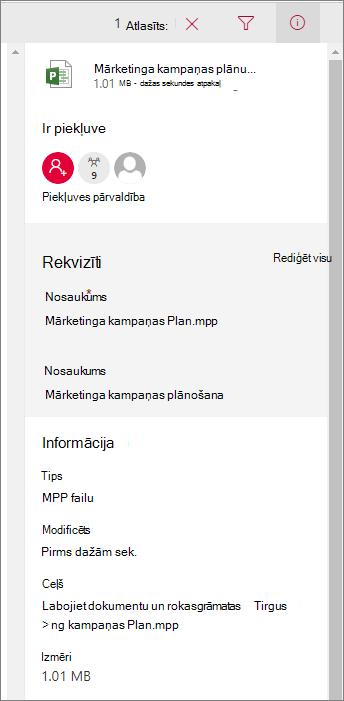 Skatiet informāciju par failu