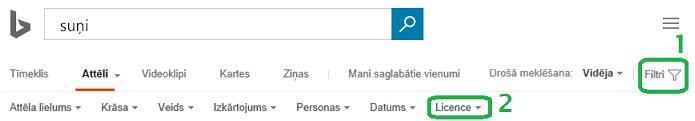 Noklikšķiniet uz filtra pogas pie loga labās piemales un pēc tam noklikšķiniet uz licences filtra izvēlnes.