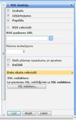 RSS skatītāja rīku rūts