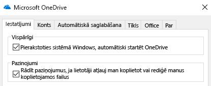Lai atspējotu visus koplietojamo OneDrive failu paziņojumus, atveriet OneDrive lietojumprogrammas iestatījumus un izslēdziet šos vienumus.