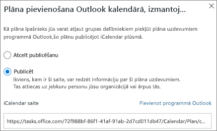 Outlook kalendāra dialoglodziņš plāno pievienot ekrānuzņēmums