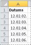 Pārvērstie datumi
