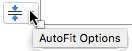 Automātiskā ietilpināšana opcijas rīks tiek parādīts vietturis tiek aizpildīta ar tekstu
