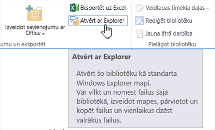 SharePoint 2016 open with Explorer programmā IE11