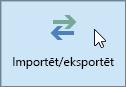 Ekrānuzņēmums ar pogu Importēt/eksportēt programmā Outlook2016