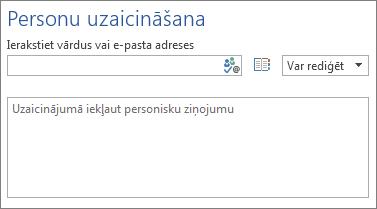 Lodziņš ar personu e-pasta adresēm