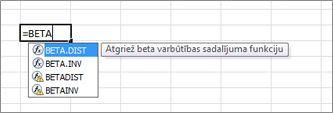 formulu automātiskās pabeigšanas piemērs
